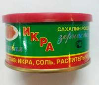 """Ікра лососева червона """"Сахалінська"""" 140г перший сорт, виробн.Росія (1/1)"""