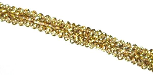 Тасьма Шанель 1,3 см, золотиста