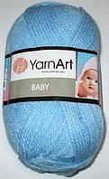 Пряжа Yarn Art Baby, голубая 215