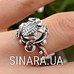 Серебряное кольцо Лягушка с жемчугом, фото 7