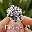 Серебряное кольцо Лягушка с жемчугом, фото 6