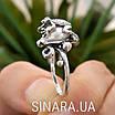 Серебряное кольцо Лягушка с жемчугом, фото 5