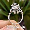 Серебряное кольцо Лягушка с жемчугом, фото 4
