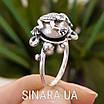 Серебряное кольцо Лягушка с жемчугом, фото 3