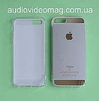 Чехол-накладка для iPhone 5 силиконовый, серебристый с золотом