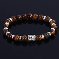 "Тибетский браслет из бусин ""Будда, тигровый глаз 2"""