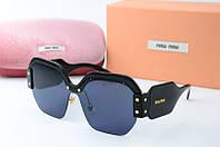 Солнцезащитные очки Миу Миу черные, фото 1