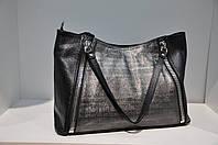 Женская кожаная сумка Assa, черная 0042-1085