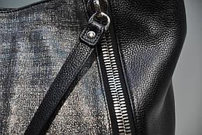 Женская кожаная сумка Assa, черная 0042-1085, фото 3