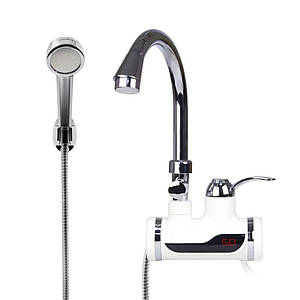 Бойлер с электронным табло + душ ,Электрический проточный водонагреватель с электронным табло и душем