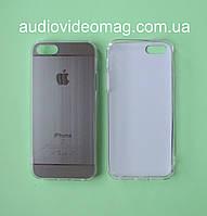 Чехол-накладка для iPhone 5 силиконовый, металлик