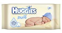 Влажные салфетки Huggies Pure 64 шт.