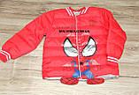 Куртка деми мальчика красная ЧЕЛОВЕК ПАУК на 98/104 рост  арт 8060., фото 2