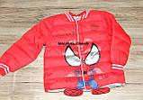 Куртка деми мальчика красная ЧЕЛОВЕК ПАУК на 98/104 рост  арт 8060., фото 3