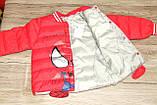 Куртка деми мальчика красная ЧЕЛОВЕК ПАУК на 98/104 рост  арт 8060., фото 6