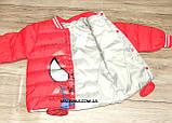 Куртка деми мальчика красная ЧЕЛОВЕК ПАУК на 98/104 рост  арт 8060., фото 7
