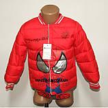 Куртка деми мальчика красная ЧЕЛОВЕК ПАУК на 98/104 рост  арт 8060., фото 8