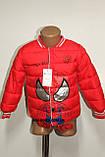 Куртка деми мальчика красная ЧЕЛОВЕК ПАУК на 98/104 рост  арт 8060., фото 9