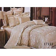 Элитный комлект постельного белья сатин жаккард Tiare евро 1721