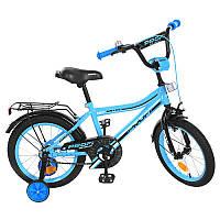 Велосипед детский ProfiTop Grade Y16104, 16д.,бирюзовый, звонок, доп.колеса
