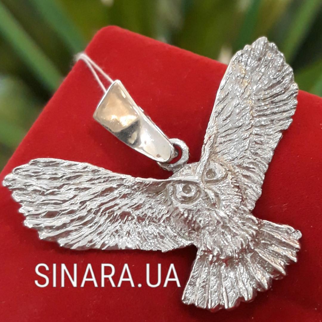 Кулон из серебра Сова - Сова кулон серебро - Серебряный кулон Сова