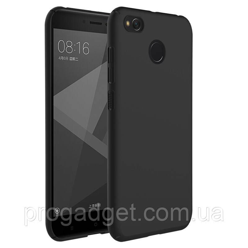 Защитный бампер чехол для Xiaomi Redmi 4x black (черный) из силикона от YOMO