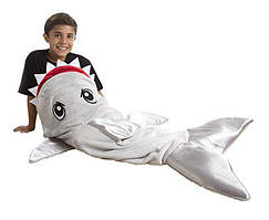 Одеяло-плед Snuggie Tails в форме серой акулы