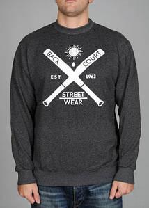 Мужская кофта cвитшот Backcourt - Streetwear Gray (толстовка, чоловіча кофта)