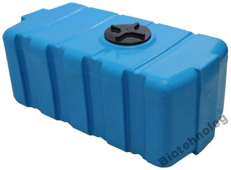 Бесплатная доставка. Бак, бочка, емкость 300 литров пищевая прямоугольная, крышка d 22 см SG