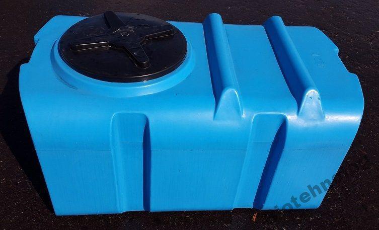 Бесплатная доставка. Бак, бочка, емкость 300 литров пищевая прямоугольная, крышка d 35 см SК