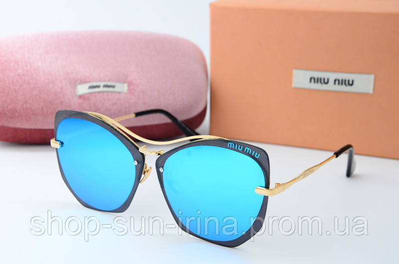 466245998c53 Солнцезащитные очки Миу Миу голубые, цена 389 грн., купить в Киеве ...