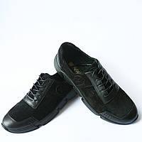 Кроссовки мужские кожаные, черного цвета, украинского производителя