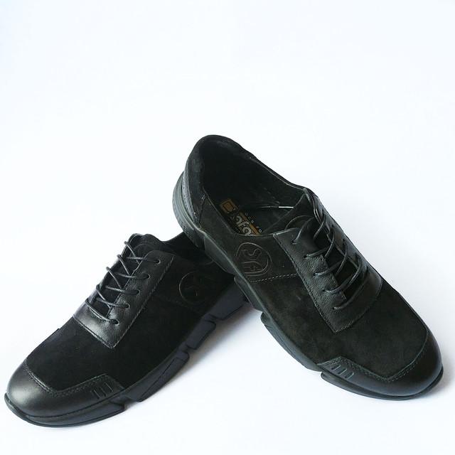 спортивные кроссовки мужские черного цвета на шнуровке