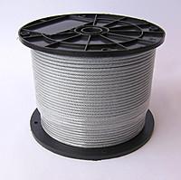 Канат из нержавеющей стали  ДИН 3055 (ГОСТ 3066-80) 0,54 мм,  Конструкция 7х7