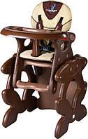 Стульчик для кормления CARETERO со столиком Primus Коричневый