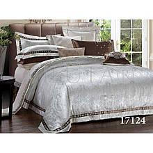 Элитный комлект постельного белья сатин жаккард Tiare евро 1724