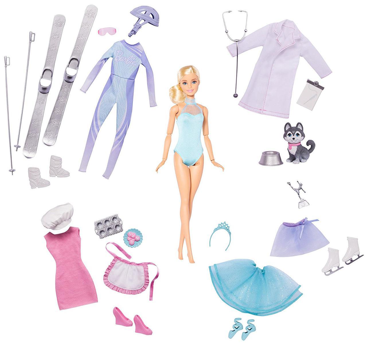 Кукла Барби Календарь приключений адвент игровой набор Barbie Advent Calendar