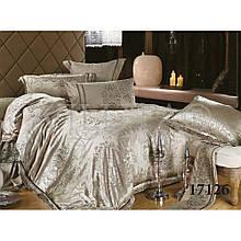 Элитный комлект постельного белья сатин жаккард Tiare евро 1726