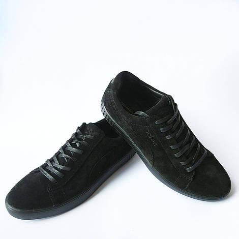 Качественная мужская обувь : замшевые кеды, черного цвета