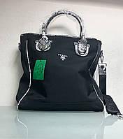 Сумка черная с отделкой под рептилию бренд LUX копия, фото 1