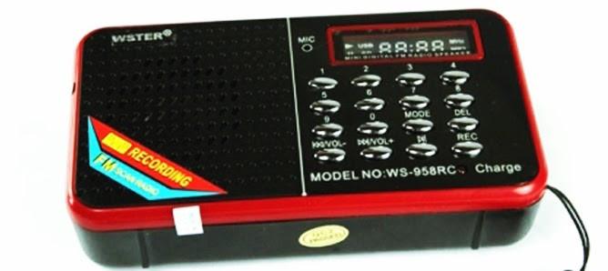 Портативная Колонка радио MP3 SPS WS 958