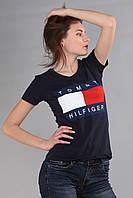 Женская футболка Th 85 синего цвета
