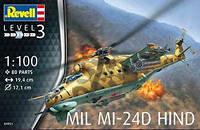"""Пластиковая сборная модель вертолета  """" 1/100 Mil Mi-24D Hind """" Revell ( RV04951 80-4951 )"""