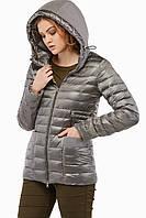 Весенняя курточка КВ-19 из плащевки серая