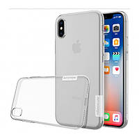 Прозрачный силиконовый чехол Nillkin Nature TPU case для Apple iPhone X / XS