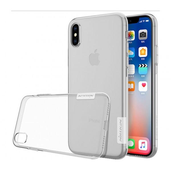 Прозрачный силиконовый чехол Nillkin Nature TPU case для Apple iPhone X