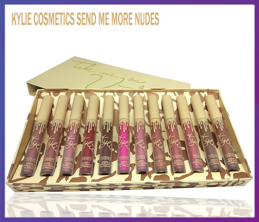 Набор матовых помад Kylie Cosmetics Send Me More Nudes 12 шт.