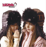 Детская шапка зимняя для девочек КОЛИН оптом размер 52-54-56, фото 1
