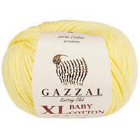 Пряжа GAZZAL Baby cotton XL 3413 (Газзал Беби КотонXL) лимонный