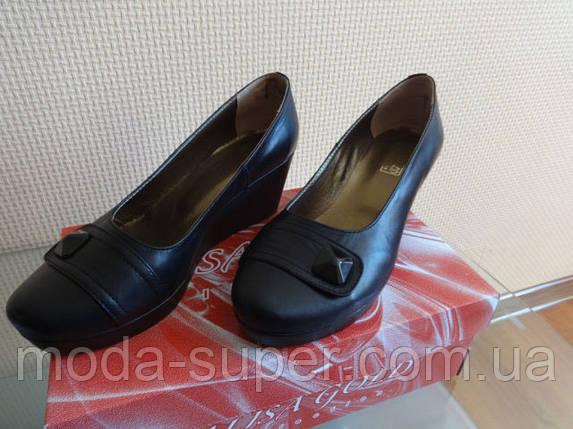 Женский туфель -натуральная кожа (черный), фото 2